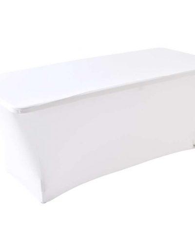Buffettafel met wit tafelrok breedte 180cm - lengte 70cm - hoogte 74cm - <strong>€ 11,00</strong>