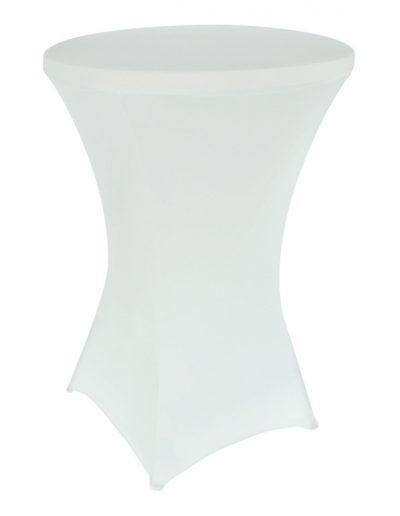 Statafel met wit kleed hoogte 110cm - breedte 80cm - <strong>€ 7,00</strong>
