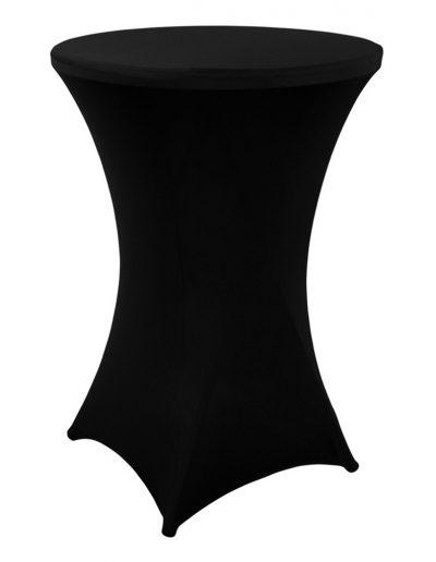 Statafel met zwart kleed hoogte 110cm - breedte 80cm - <strong>€ 7,00</strong>