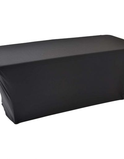 Buffettafel met zwart tafelrok breedte 180cm - lengte 70cm - hoogte 74cm - <strong>€ 11,00</strong>
